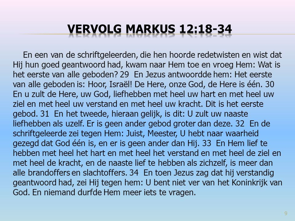  Markus 10:10-11 En Hij zei tegen hen: Wie zijn vrouw verstoot en met een andere trouwt, pleegt overspel tegen haar.