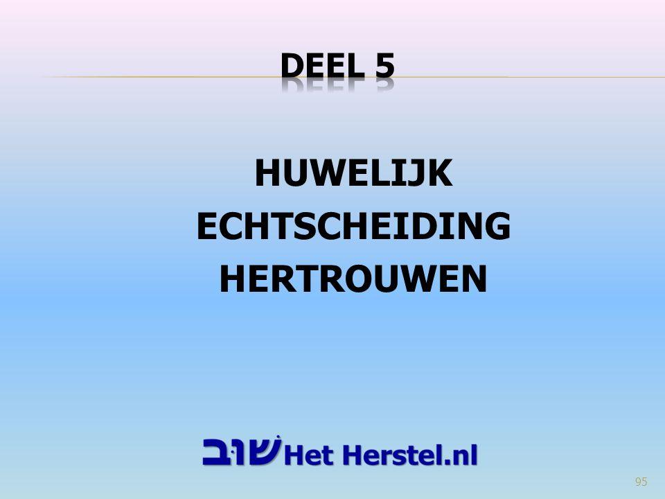 HUWELIJK ECHTSCHEIDING HERTROUWEN 95