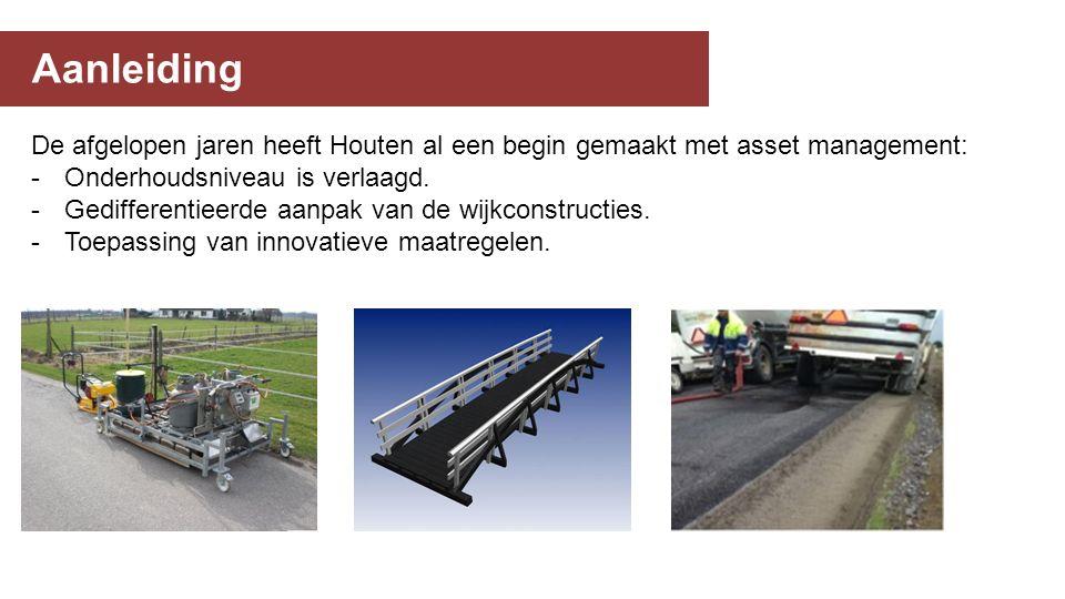 Aanleiding De afgelopen jaren heeft Houten al een begin gemaakt met asset management: -Onderhoudsniveau is verlaagd.