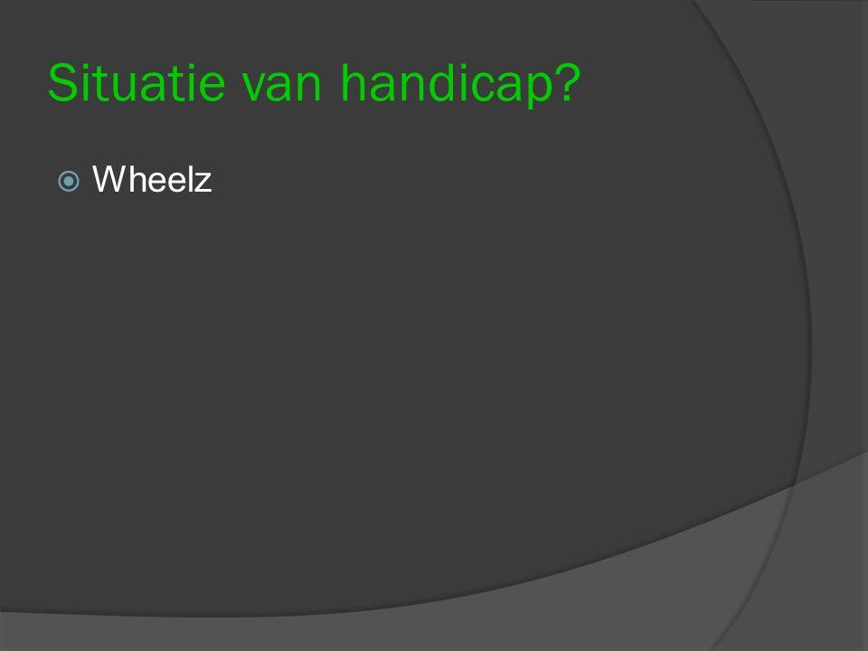Situatie van handicap?  Wheelz