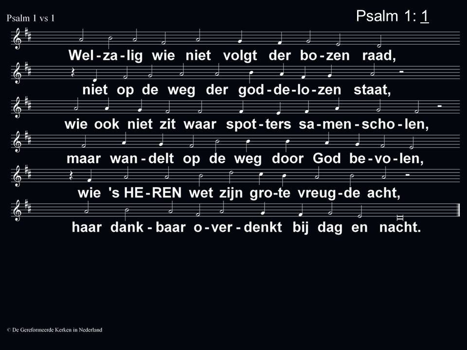 Psalm 1: 1