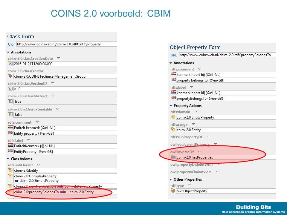 COINS 2.0 voorbeeld: CBIM