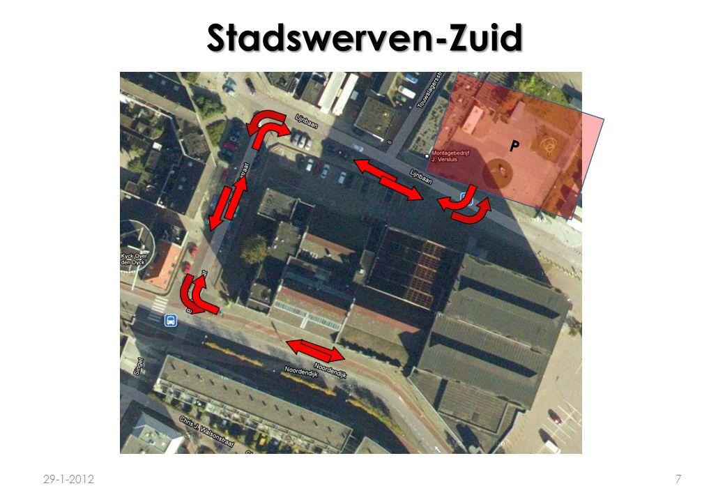 Stadswerven-Zuid 8 Autoluw maken van route Lijnbaan-Biesboschstraat: 1.Bussluis/poller tpv.