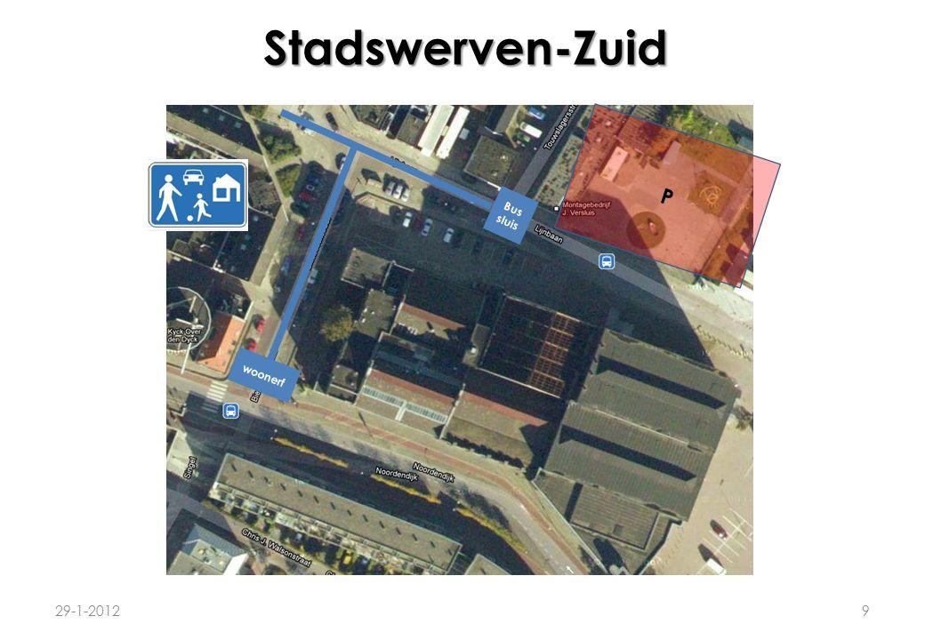 P Stadswerven-Zuid 29-1-20129 Bus sluis woonerf