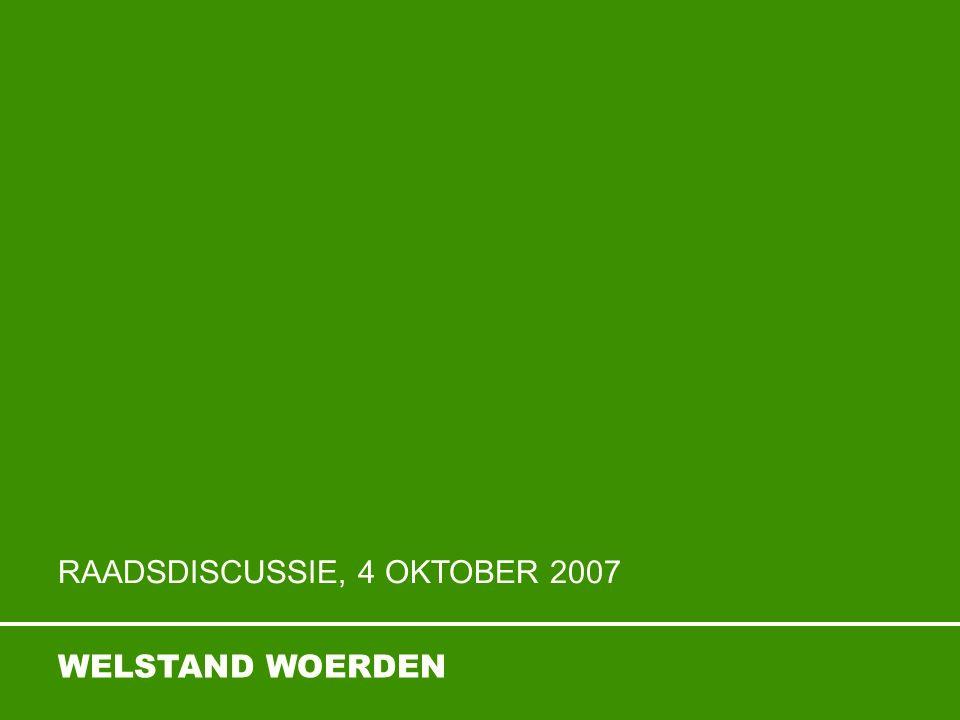 WELSTAND WOERDEN RAADSDISCUSSIE, 4 OKTOBER 2007