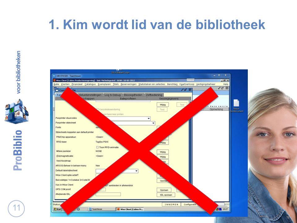 11 1. Kim wordt lid van de bibliotheek