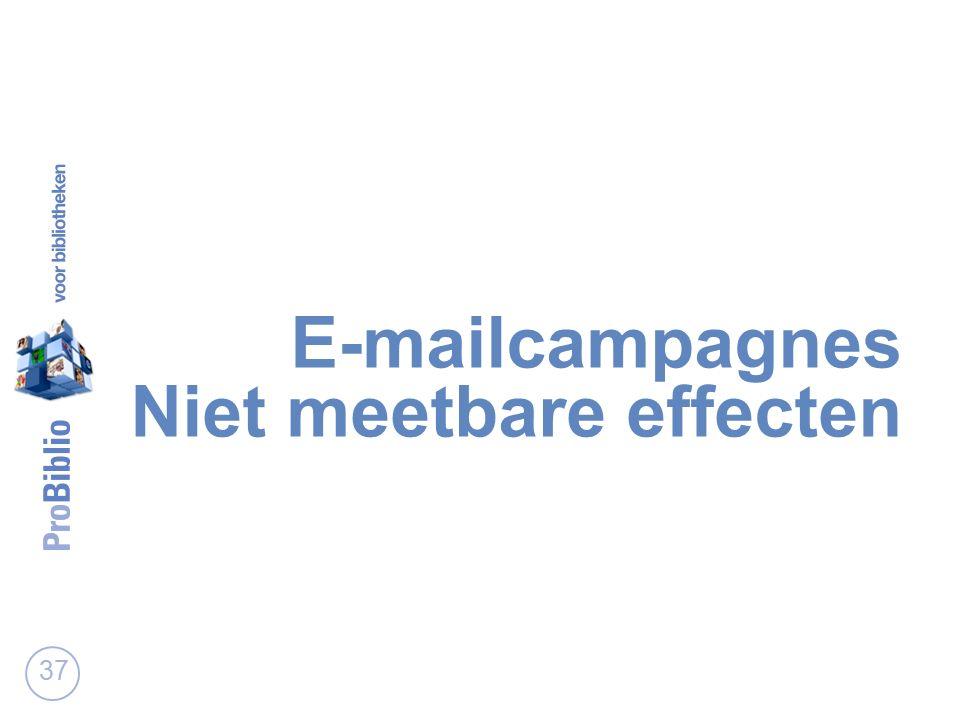 E-mailcampagnes Niet meetbare effecten 37