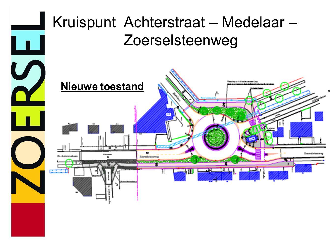 Kruispunt Achterstraat – Medelaar – Zoerselsteenweg Nieuwe toestand
