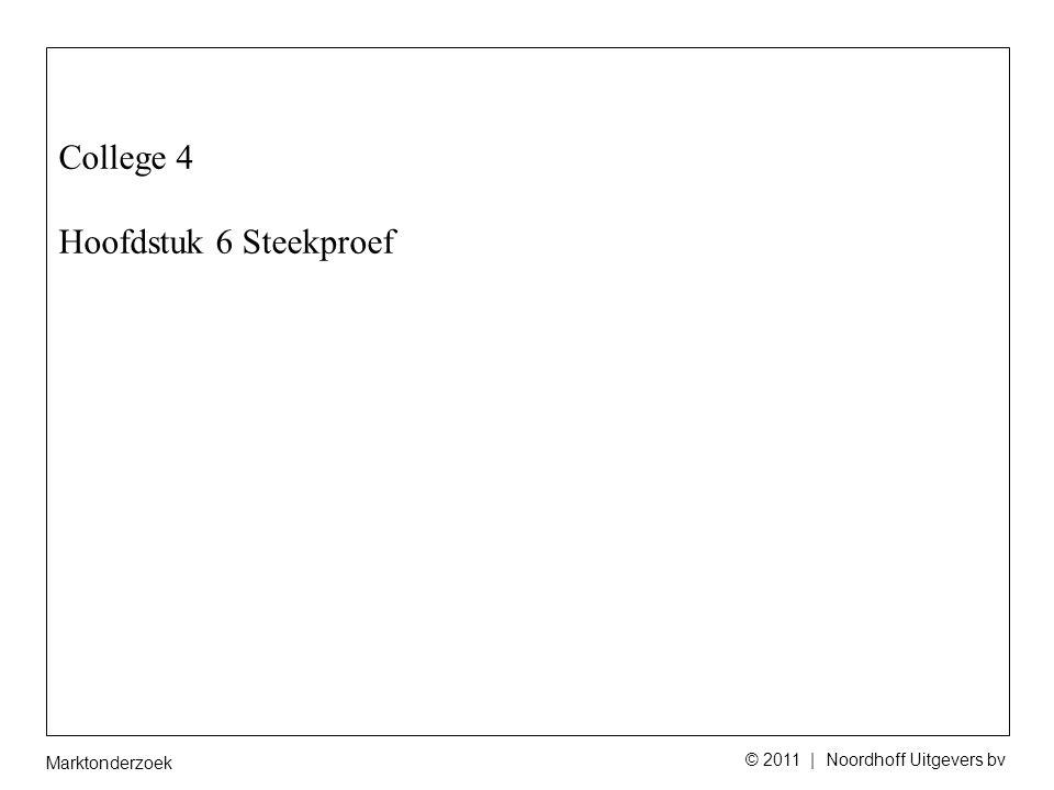 Marktonderzoek © 2011 | Noordhoff Uitgevers bv (Dis) proportioneel