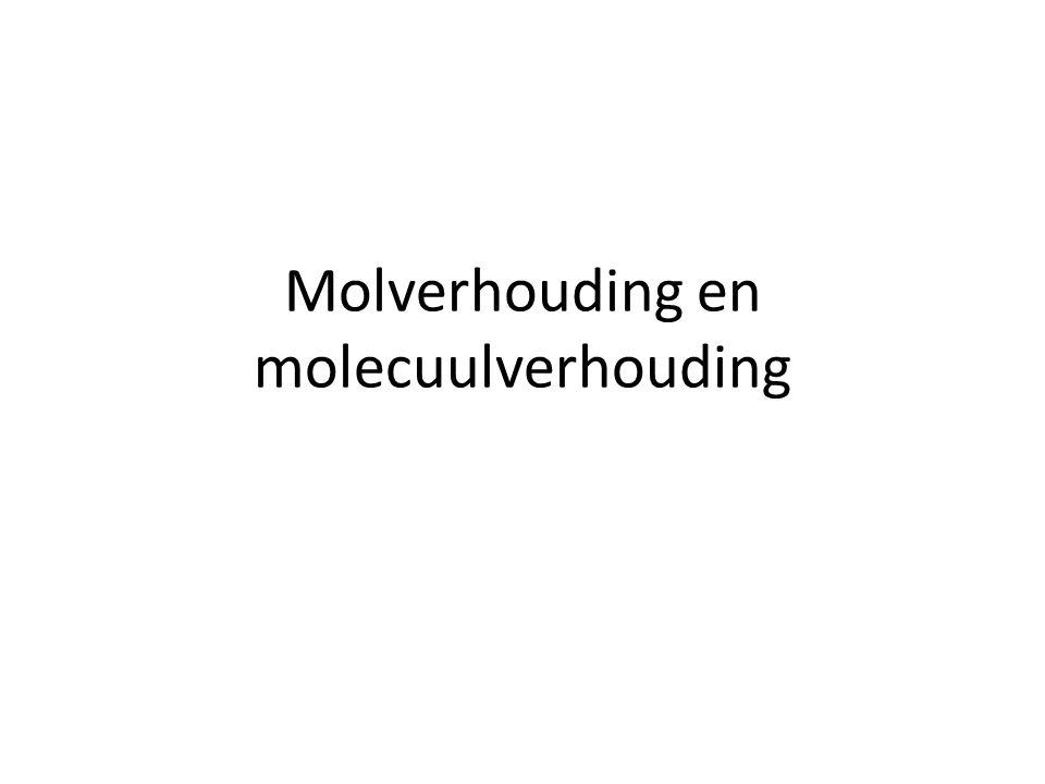 Molverhouding en molecuulverhouding