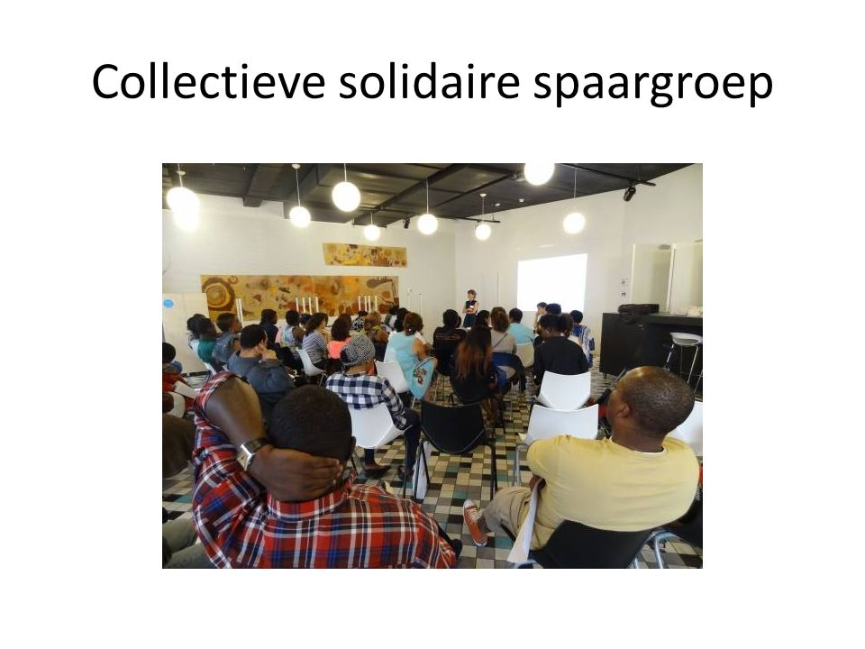 Collectieve solidaire spaargroep