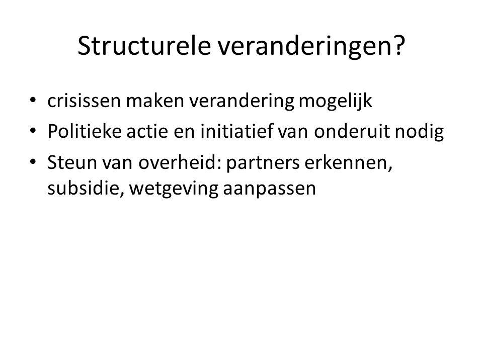 Structurele veranderingen.