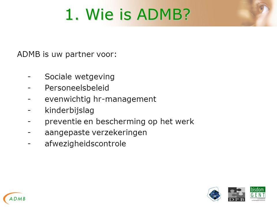 1. Wie is ADMB?