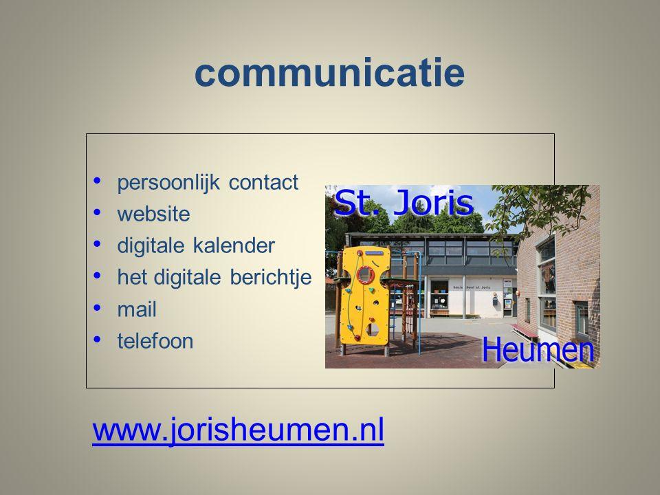 communicatie persoonlijk contact website digitale kalender het digitale berichtje mail telefoon www.jorisheumen.nl