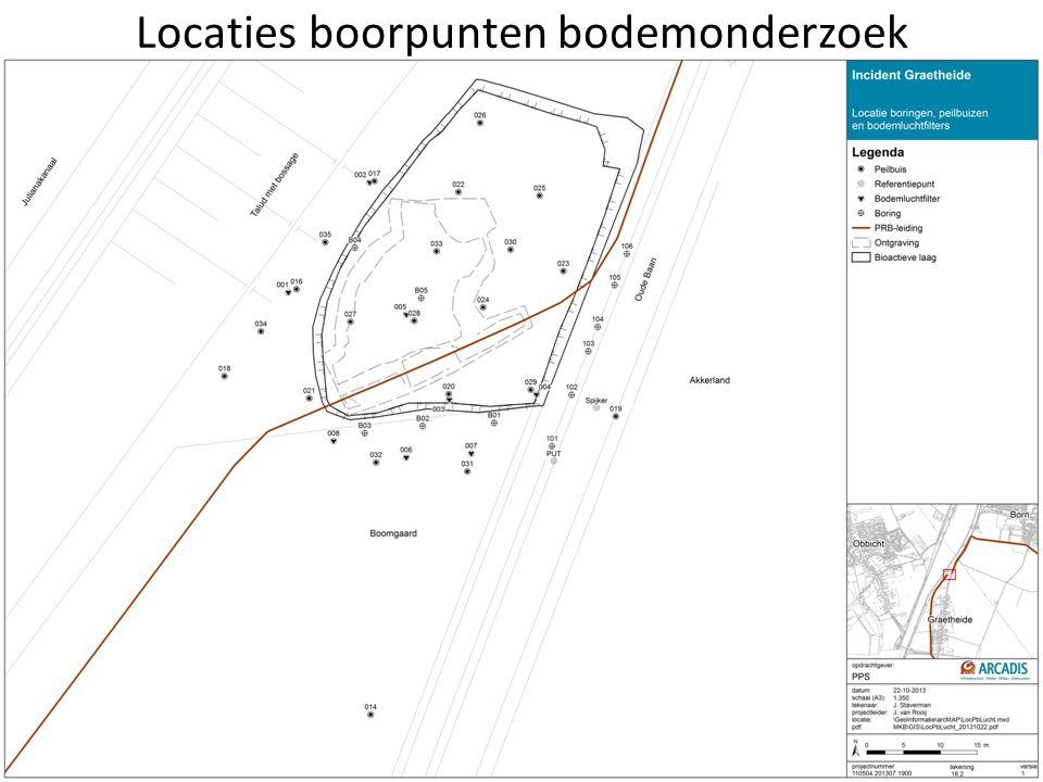 Locaties boorpunten bodemonderzoek