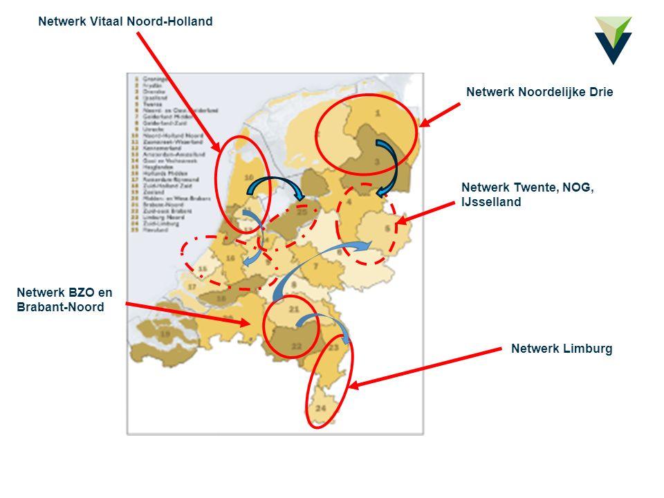 Netwerk Limburg Netwerk Vitaal Noord-Holland Netwerk BZO en Brabant-Noord Netwerk Noordelijke Drie Netwerk Twente, NOG, IJsselland