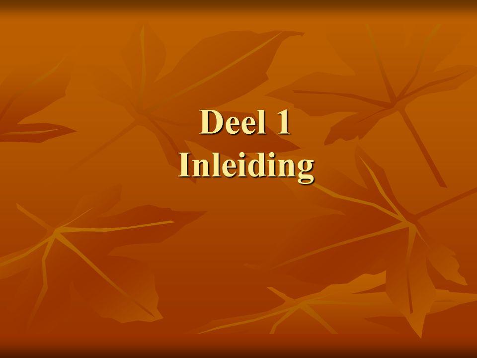 Inleiding Vervolg presentatie nav wetswijziging van 1 januari 2013.