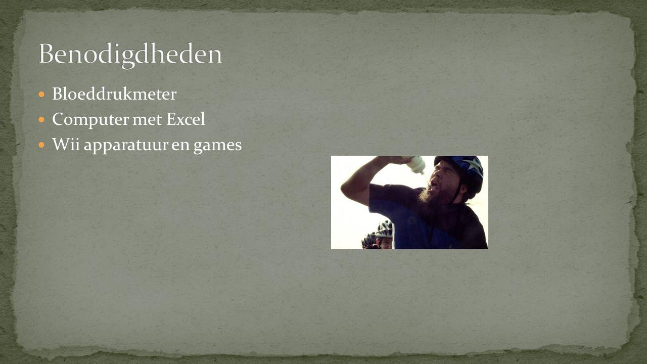 Bloeddrukmeter Computer met Excel Wii apparatuur en games