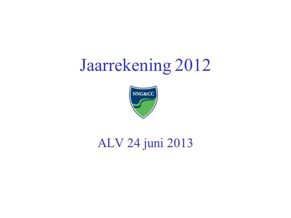 Jaarrekening 2012 ALV 24 juni 2013