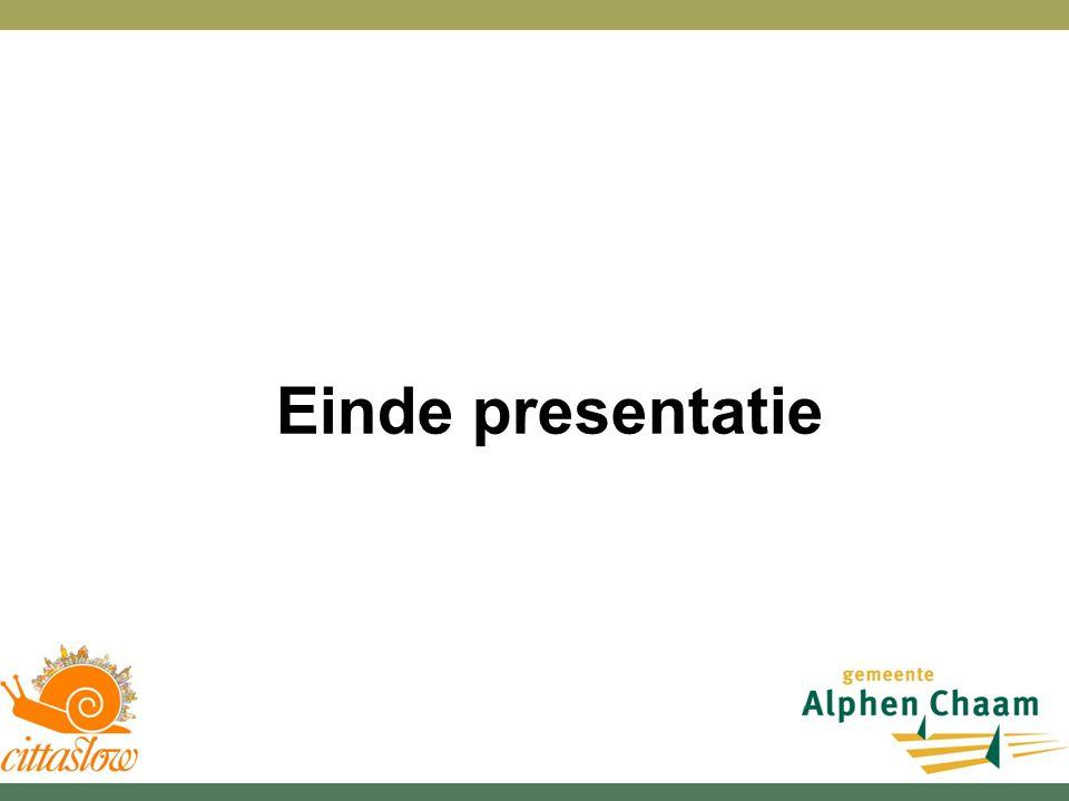 Einde presentatie