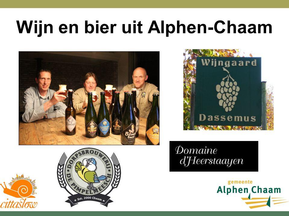 Wijn en bier uit Alphen-Chaam