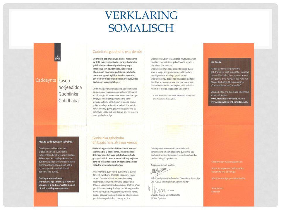 VERKLARING SOMALISCH