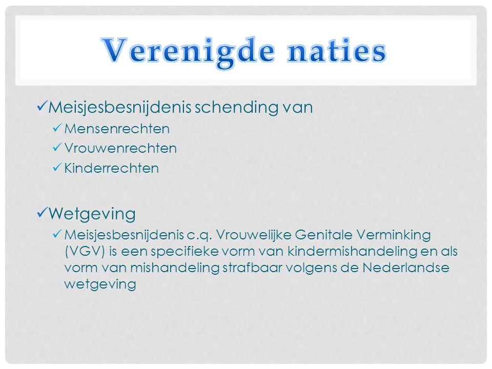 Meisjesbesnijdenis schending van Mensenrechten Vrouwenrechten Kinderrechten Wetgeving Meisjesbesnijdenis c.q.