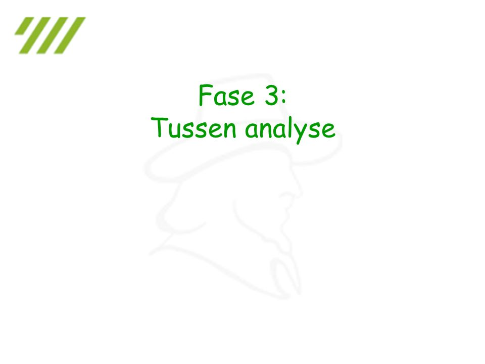 Fase 3: Tussen analyse