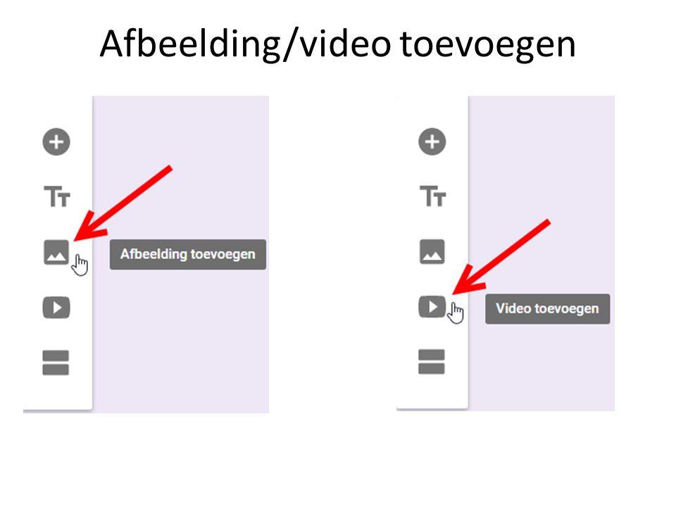 Afbeelding/video toevoegen