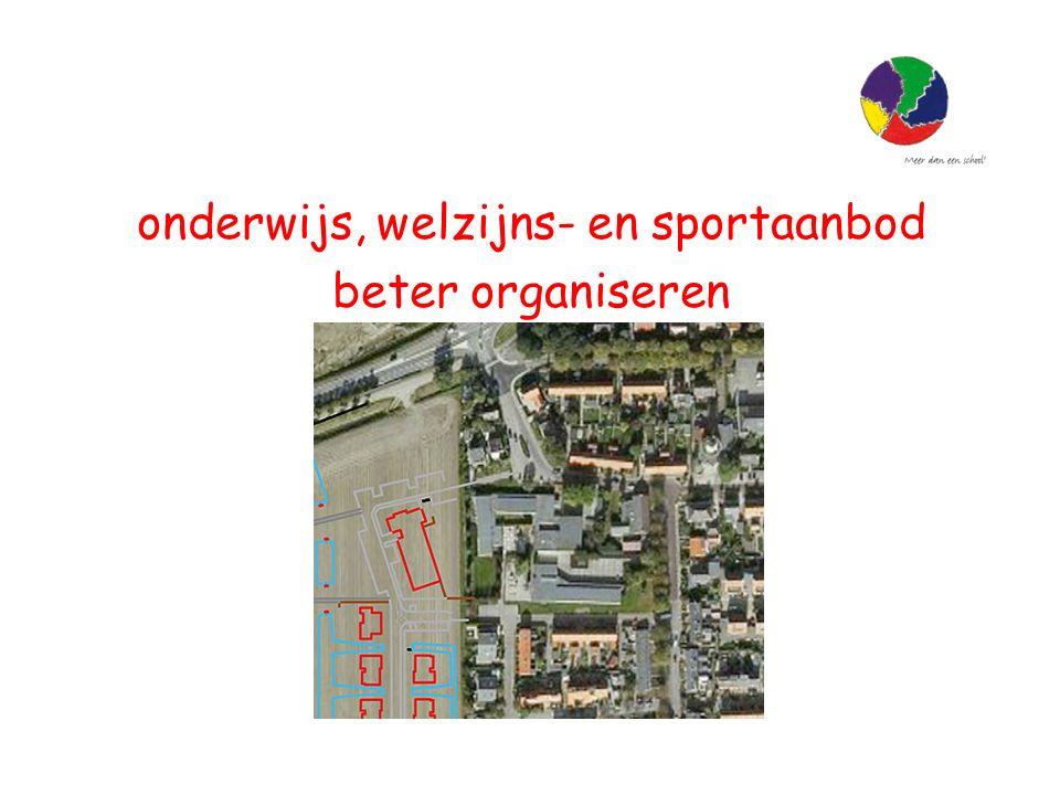 onderwijs, welzijns- en sportaanbod beter organiseren
