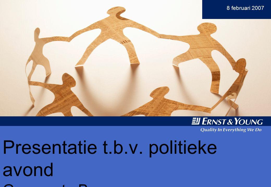 Y 8 februari 2007 Presentatie t.b.v. politieke avond Gemeente Boxmeer Presentatie t.b.v.