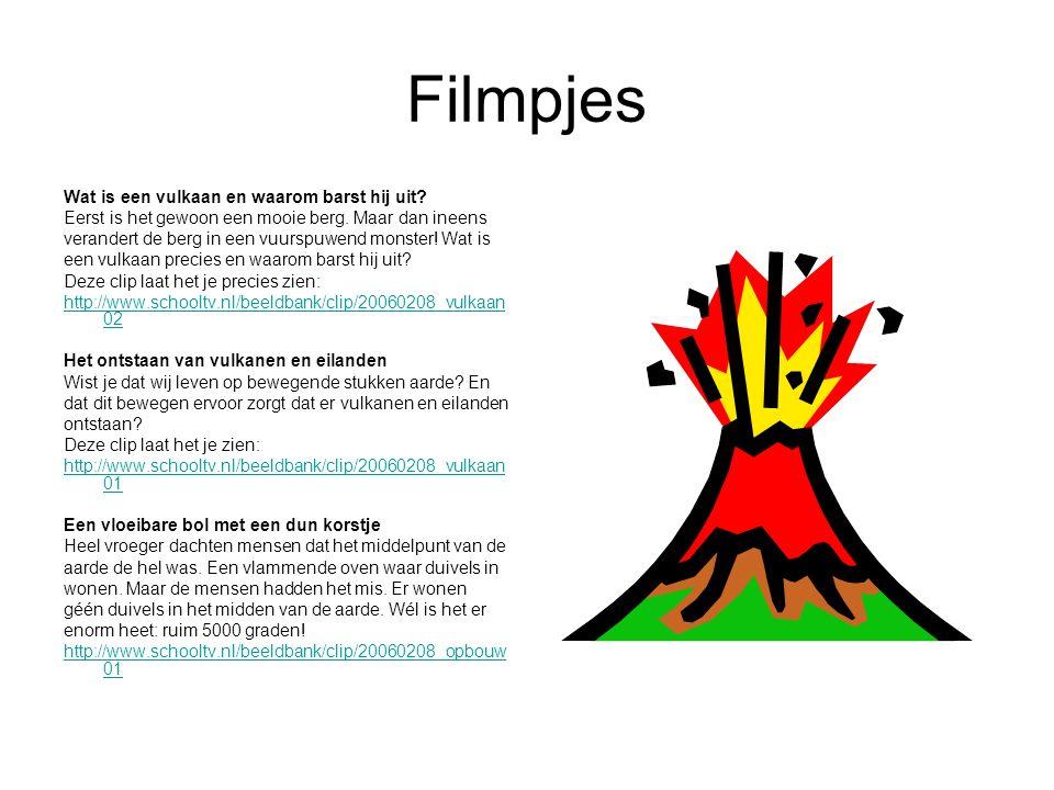 Filmpjes Wat is een vulkaan en waarom barst hij uit.