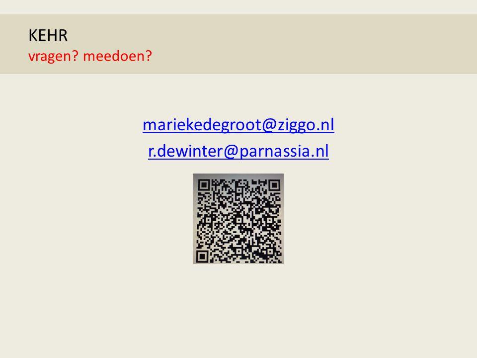KEHR suïcide mariekedegroot@ziggo.nl r.dewinter@parnassia.nl KEHR vragen meedoen