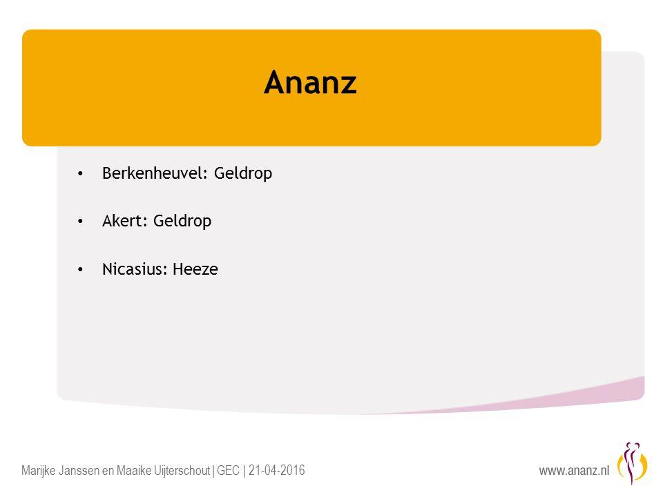 Marijke Janssen en Maaike Uijterschout | GEC | 21-04-2016 Ananz Berkenheuvel: Geldrop Akert: Geldrop Nicasius: Heeze