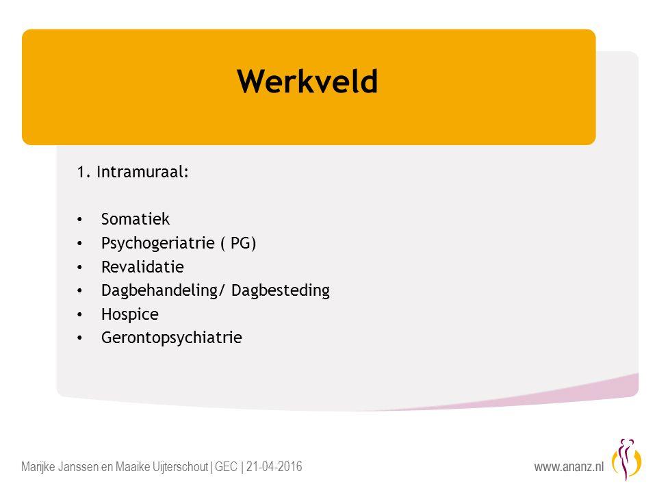 Marijke Janssen en Maaike Uijterschout | GEC | 21-04-2016 Werkveld 1.