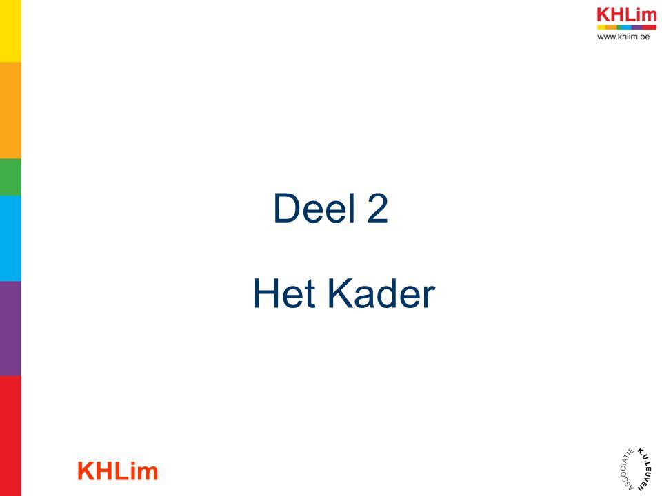 Deel 2 Het Kader KHLim