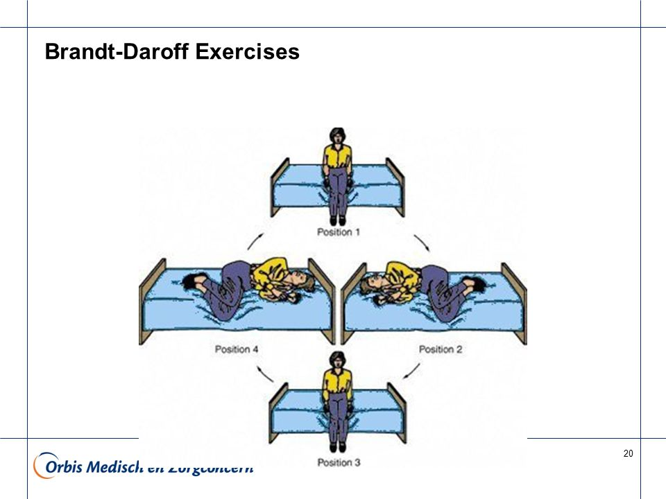 20 Brandt-Daroff Exercises