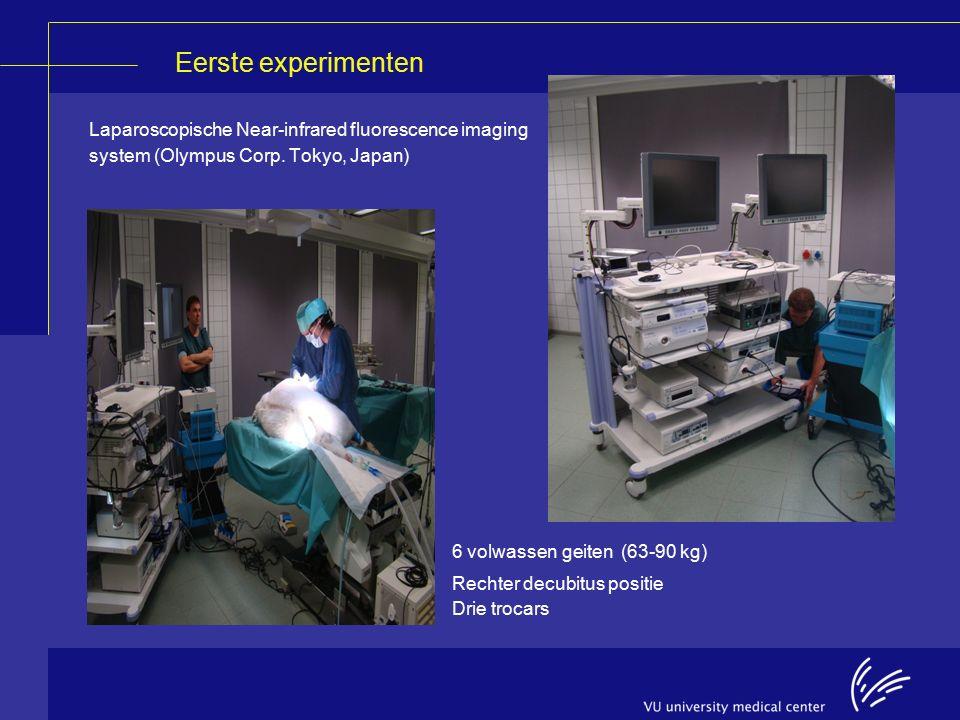 Eerste experimenten Laparoscopische Near-infrared fluorescence imaging system (Olympus Corp.