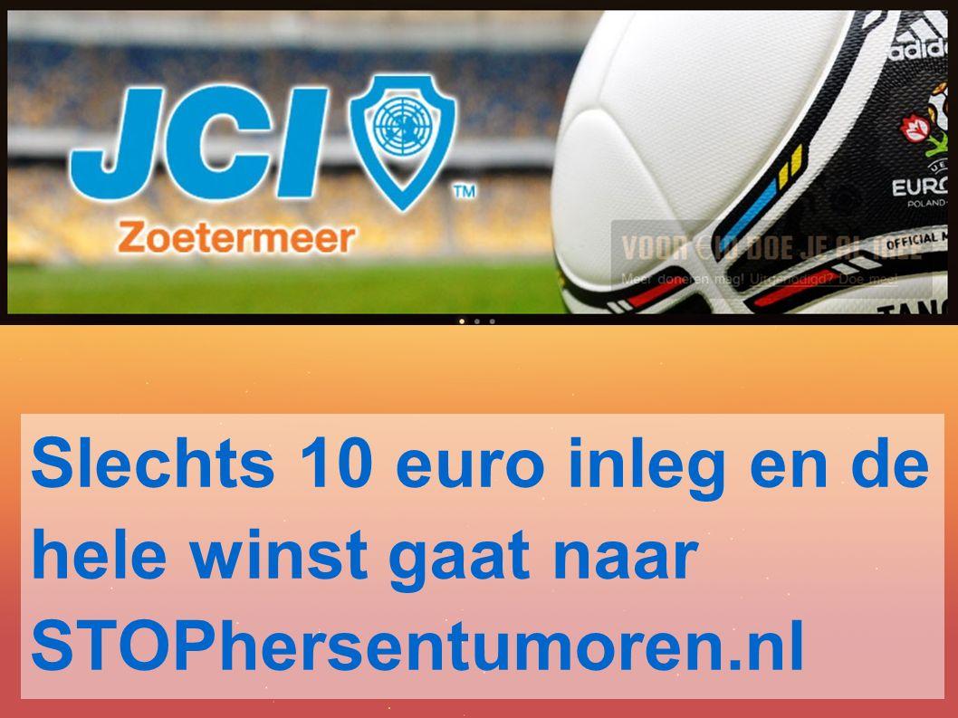 Slechts 10 euro inleg en de hele winst gaat naar STOPhersentumoren.nl