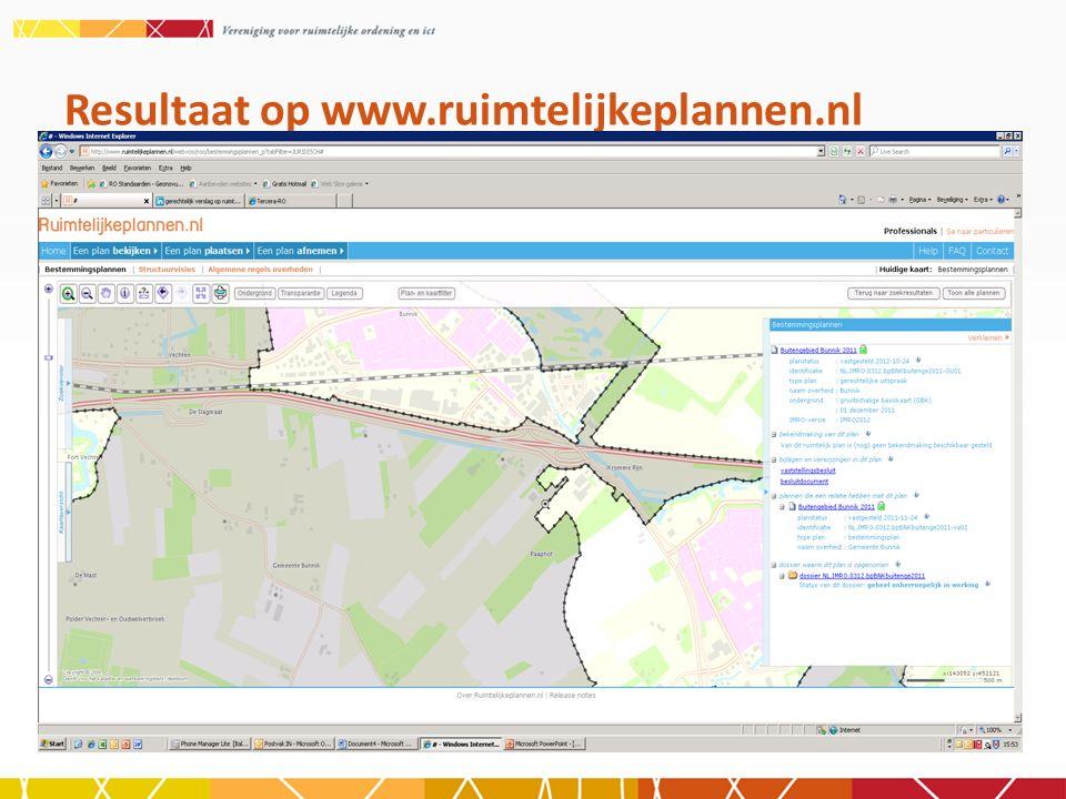 Resultaat op www.ruimtelijkeplannen.nl