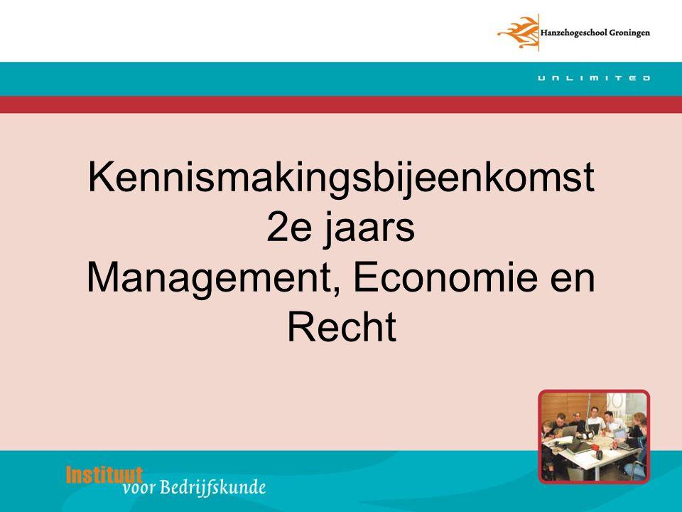 Kennismakingsbijeenkomst 2e jaars Management, Economie en Recht