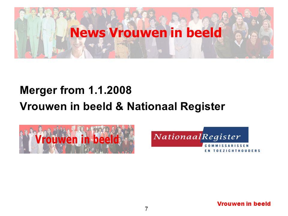 7 Vrouwen in beeld Merger from 1.1.2008 Vrouwen in beeld & Nationaal Register News Vrouwen in beeld
