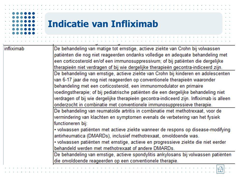 Indicatie van Infliximab