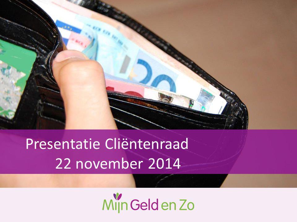 Presentatie Cliëntenraad 22 november 2014