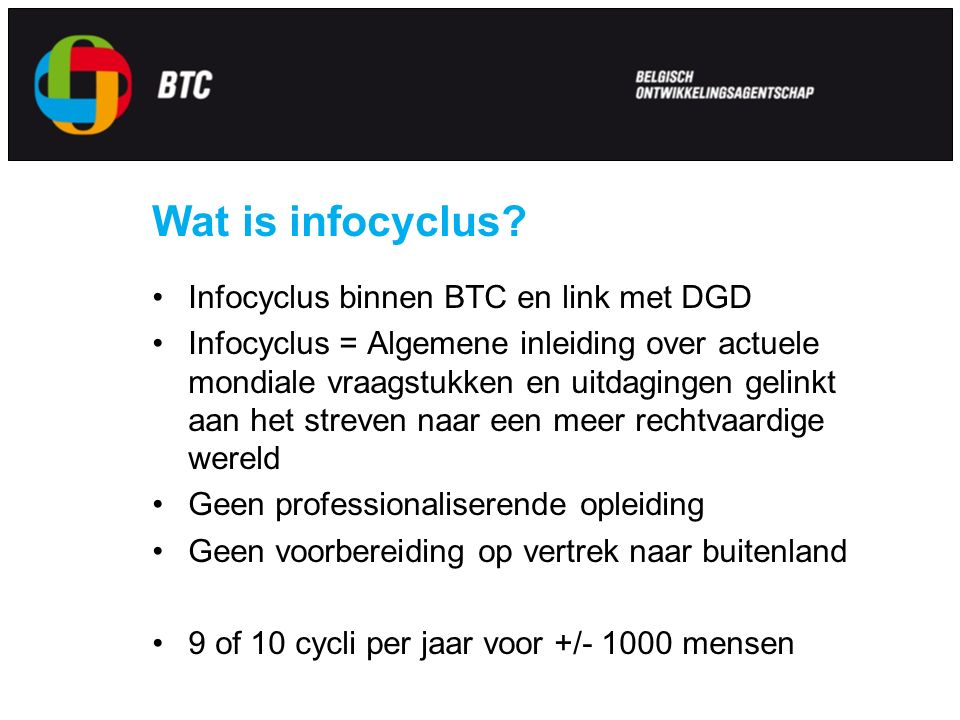 Wat is infocyclus.