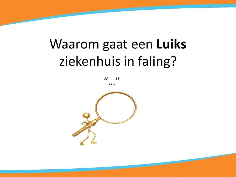 Waarom gaat een Luiks ziekenhuis in faling? …