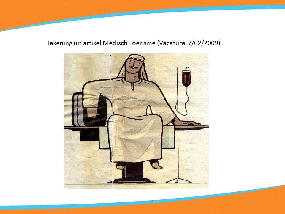 Tekening uit artikel Medisch Toerisme (Vacature, 7/02/2009)