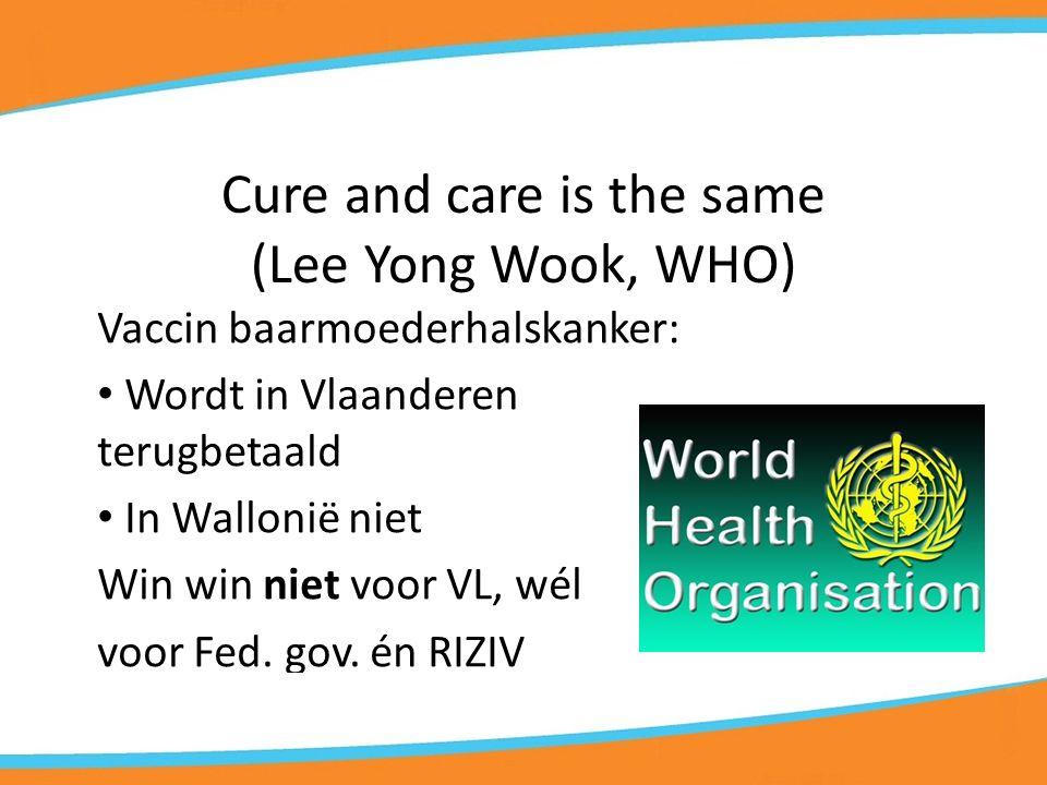Taalgrens = Zorggrens Borstscreening gebeurt op een andere manier in Wallonië  meer nutteloze onderzoeken = Gezondheidszorg kan ook schaden… + ander vb.