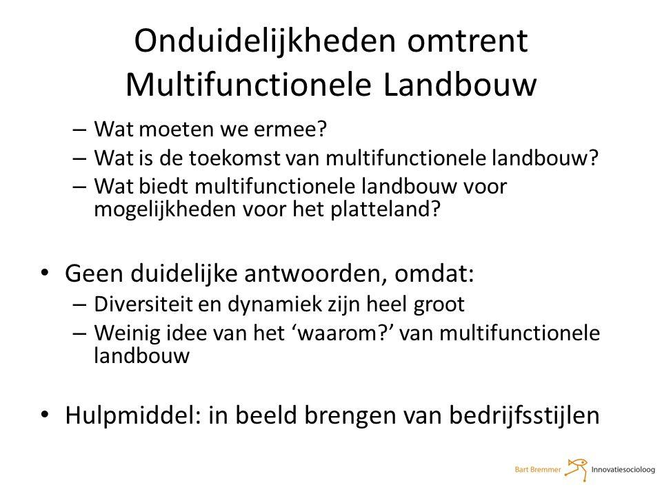 Onduidelijkheden omtrent Multifunctionele Landbouw – Wat moeten we ermee.