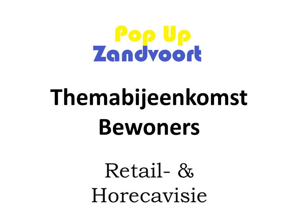 Themabijeenkomst Bewoners Retail- & Horecavisie